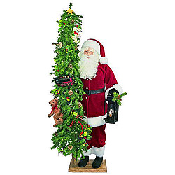 6 Foot Childs Play Santa With Tree Decoration