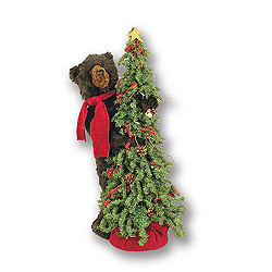 40 Inch Christmas Tree with Bear Decoration