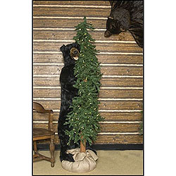 72 Inch Alpine Tree With A Bear