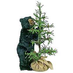 Black Bear With Tahoe Tree Decoration