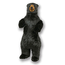 48 Inch Standing Black Bear Decoration
