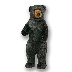 36 Inch Standing Black Bear Decoration