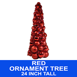 2 Foot Red Christmas Ball Tree