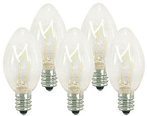 25 Incandescent C7 Clear Night Light Dimmable Bulbs