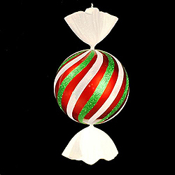 4 Foot Red White And Green Peppermint Candy Decoration