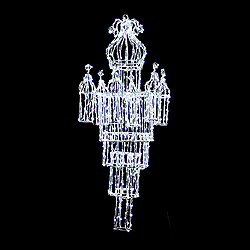 55 Inch Chandelier Pure White LED Decoration