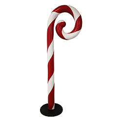 5 Foot Swirled Candy Cane Standing Decoration