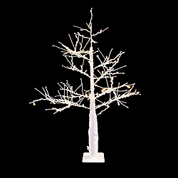 4.5 Foot White Tree 100 Warm White Lights