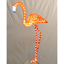 4 Foot Flamingo Lighted Lawn Decoration