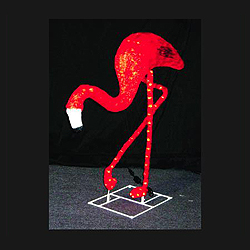 4 Foot Red Flamingo Lighted Lawn Decoration