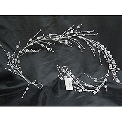 5 Foot Silver Berry Crystal Garland