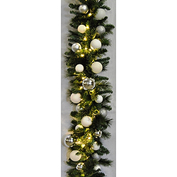 9 Foot Sequioa Ice Garland 100 LED Warm White Lights