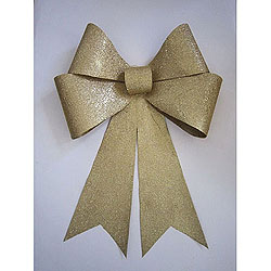 30 Inch Gold Sequin Glitter Bow