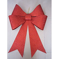 30 Inch Red Sequin Glitter Bow