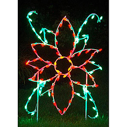 LED Poinsettia Flower Outdoor Lawn Decoration