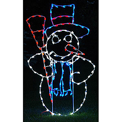 Snowman LED Outdoor Winter Lawn Decoration