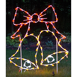 LED Twin Bells With Bow Outdoor Lawn Decoration