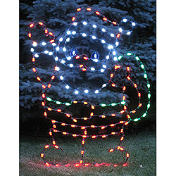 LED Waving Santa Outdoor Lawn Decoration