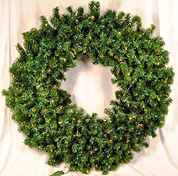 4 Foot Sequoia Wreath 140 Multi Lights
