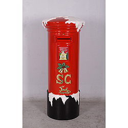 5 Foot Polyresin Mail Box Decoration