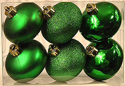 80MM Green Ridged Onion Ornament Kit Assorted Finishes Box of 6