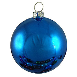 60MM Shiny Blue Round Ornament