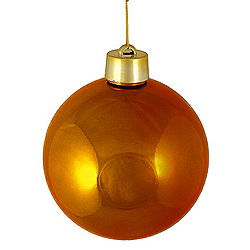 2 Inch Copper Shiny Round Ornament With Wire