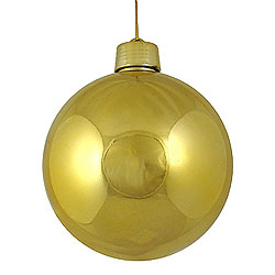 60MM Shiny Gold Round Ornament