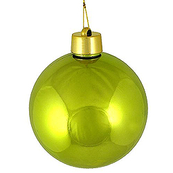 60MM Shiny Lime Round Ornament