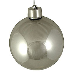 60MM Shiny Silver Round Ornament