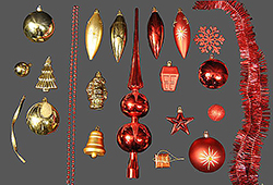 102 Piece Red And Gold Ornament Set