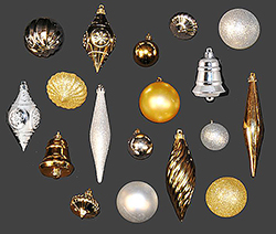 90 Piece Gold And Silver Ornament Kit
