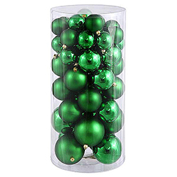 60MM Green Shatterproof Matte Ornaments - Box Of 100