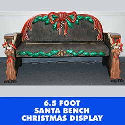 6.5 Foot Commercial Christmas Bench