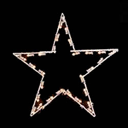 2 Foot Commercial Grade 5 Point Star C7 LED Warm White Lights