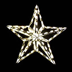4 Foot 3D Star Tree Topper LED Warm White Lights