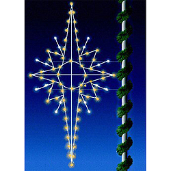 3 Foot Commercial Grade Eight Point Bethlehem Star C7 LED Warm White Lights