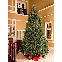 9 Foot Artificial Christmas Tree Warm White LED Lights