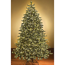7.5 Foot Sequoia Artificial Christmas Tree 400 LED Warm White Lights