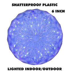6 Inch Outdoor Crystal Ball 30 Blue LEDs
