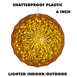 6 Inch Outdoor Crystal Ball 30 Yellow LEDs