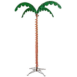 7 Foot LED Rope Light Palm Tree