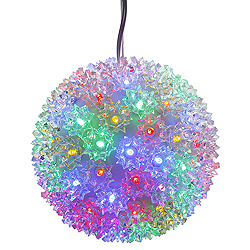 6 Inch LED Multi Starlight Sphere 50 LED Multi Lights