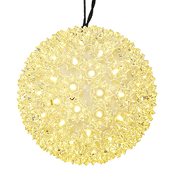 6 Inch Warm White Twinkling Star Sphere 50 LED 5MM Warm White Lights