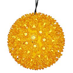 6 Inch Gold Starlight Sphere 50 LED 5MM Gold Christmas Light Set