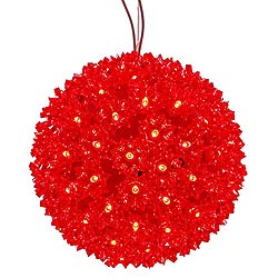 7.5 Inch Lighted Starlight Sphere 100 LED Red Lights