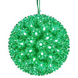 7.5 Inch Lighted Starlight Sphere 100 LED Green Lights