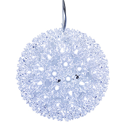 7.5 Inch Lighted Starlight Sphere 100 LED Cool White Lights