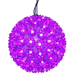 7.5 Inch Lighted Starlight Sphere 100 LED Purple Lights