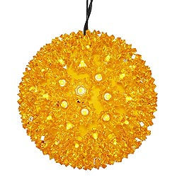 7.5 Inch Lighted Starlight Sphere 100 LED Gold Lights